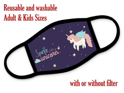 Unicorn face masks for kids
