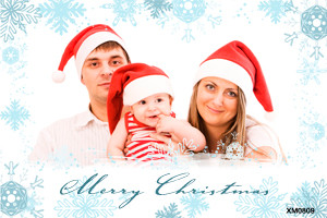 Personalised photo Festive Seasons Greetings card for sale online