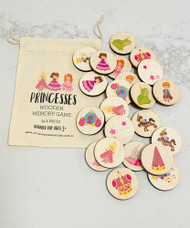 Wood Matching Memory Game - Princess & Princes