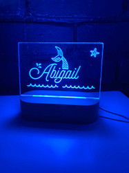 Personalised mermaid night light