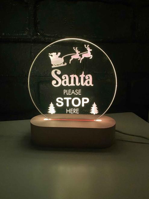 Santa Please Stop Here Night Light