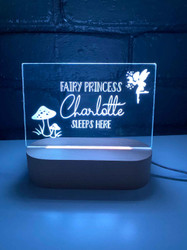 Fairy Princess Personalised Night Light