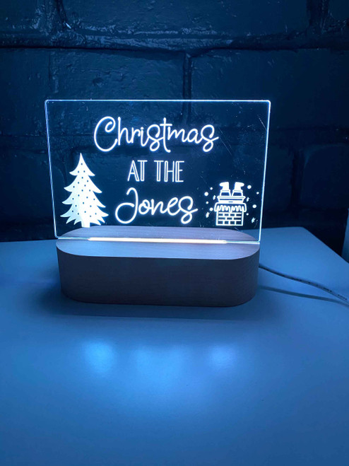 Family Christmas Mantle Piece light decoration