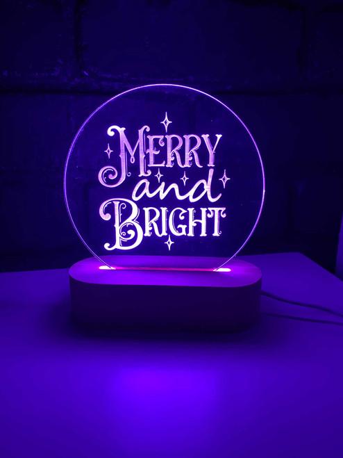 Merry & Bright Christmas Night Light