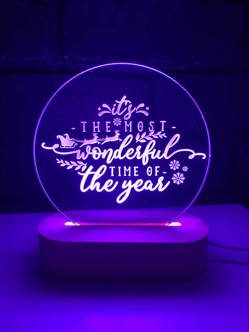Christmas The Most Wonderful Time of the Year Night Light