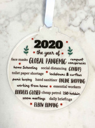 2020 Christmas Bauble - Lockdown 2020 Decoration