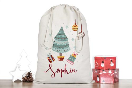 Christmas Tree Personalised Santa Sack