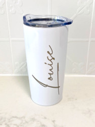 Personalised Signature Font Tumbler travel Mug