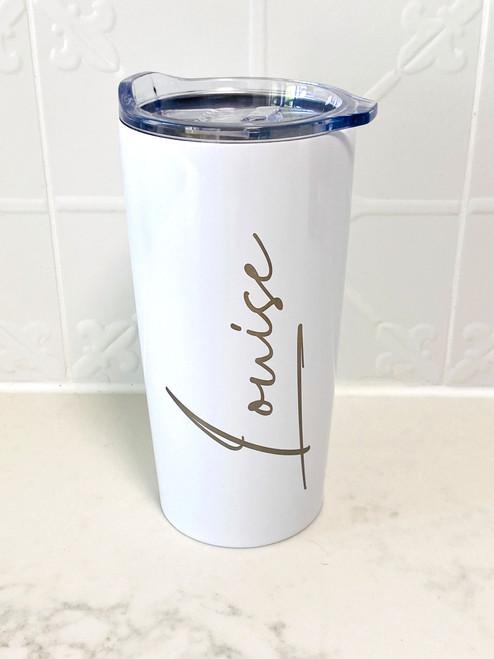 Personalised Signature Font Tumbler travel Mug