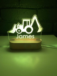 Personalised Construction Digger LED Night Light