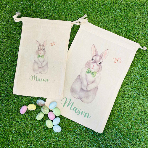 Boy - Easter Bunny Personalised Favour Bag