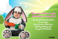 Personalised photo invitations - little bunny costume theme