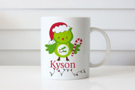 Christmas gift personalised mug with name. Australian online shop delivers to Melbourne, Sydney, Brisbane