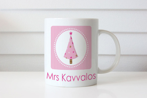 Personalised Christmas coffee mug gift. Australian website delivers to Melbourne, Brisbane, Sydney, Perth, Canberra, Adelaide