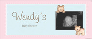 Personalized baby shower banner - baby bear theme - order online