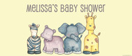 Personalized baby shower banner - baby safari animals theme - Australian online printer