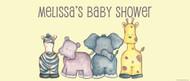 Personalized baby shower banner - baby safari animals theme - Australian online printer