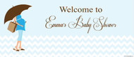 Personalized baby shower banner - blue mum to be theme - online banner printer
