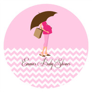 Personalized & custom baby shower party Labels & Stickers - pink mum to be theme. For sale in Australia - order online