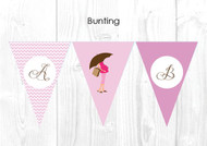 Pink Mum to Be Themed Baby Shower Personalised Bunting Flag Decorations