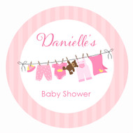 Pink Baby Clothes Personalised Cake Baby Shower Icing - Personalised Edible Image - Made in Melbourne Australia