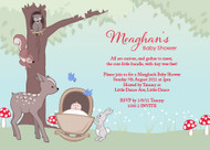 Baby Forest Animals Baby Shower Invitations