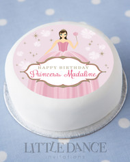 Personalised & custom edible image for a girls birthday cake. Princess theme. Australia wide delivery.