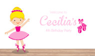 Personalized & custom ballet themed girls birthday party banner for sale online in Australia.