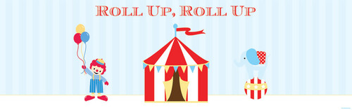 Personalized & custom kids birthday party banner or backdrop. Circus theme. For sale online in Australia.