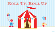 Vintage Circus Themed Birthday party banners.