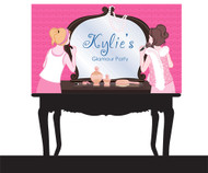 Personalized & custom girls glamour or makeover birthday party banner or backdrop. For sale online in Australia.