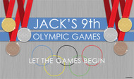 Personalized & custom birthday party banner or backdrop. Olympic theme design for sale online in Australia.