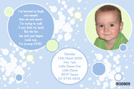 Boys Blue & Green Birthday Party Invitations