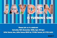 Boys Name frame Birthday Party Invitations