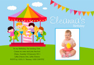 Carousel Carnival Birthday Party Invitations