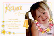 Frangipani Birthday Party Invitations