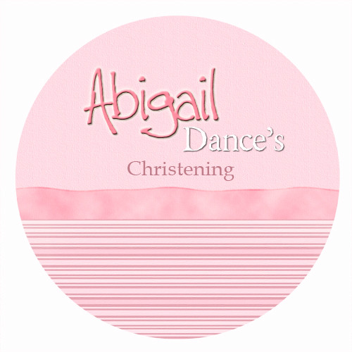Personalised baptism or christening labels - pink ribbon girls theme. For sale online - order online