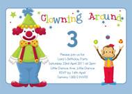 Birthday Invites - Clown Around
