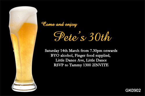 Beer Birthday Party Invitations