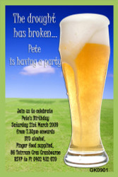Beer Birthday Party Invitations